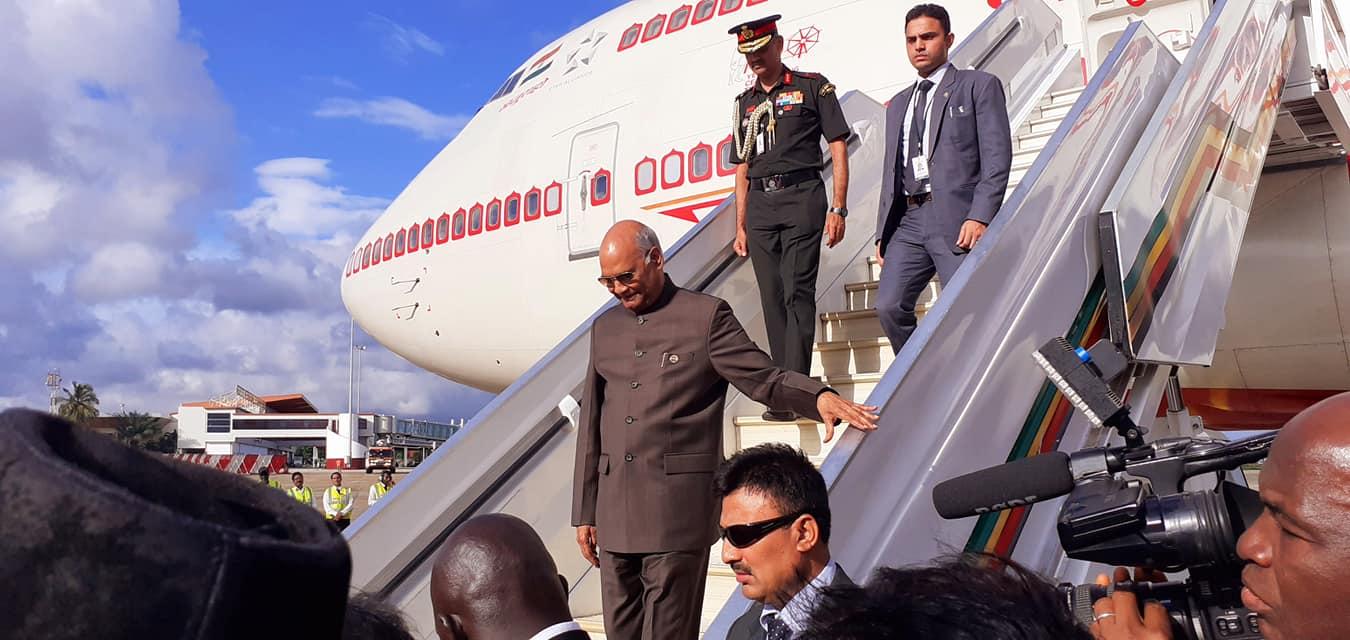 印度总统科温德访问几内亚