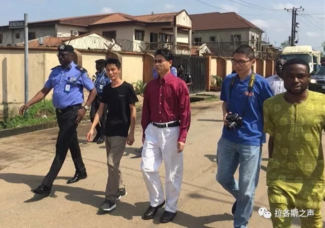 拉各斯发生中国公民的绑架未遂案件,储茂明总领事走访中资企业,进行安全巡查
